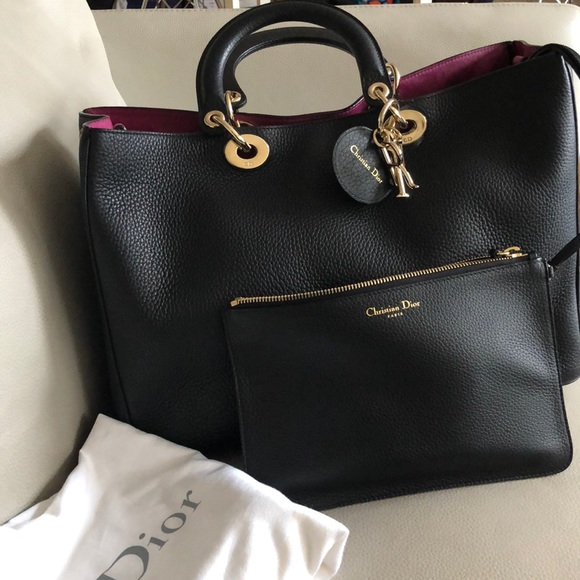 678a02015361 Christian Dior Bags | Large Diorissimo Bag Black Pink | Poshmark